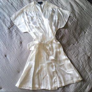 NWOT Luxurious White/Cream Lingerie Robe
